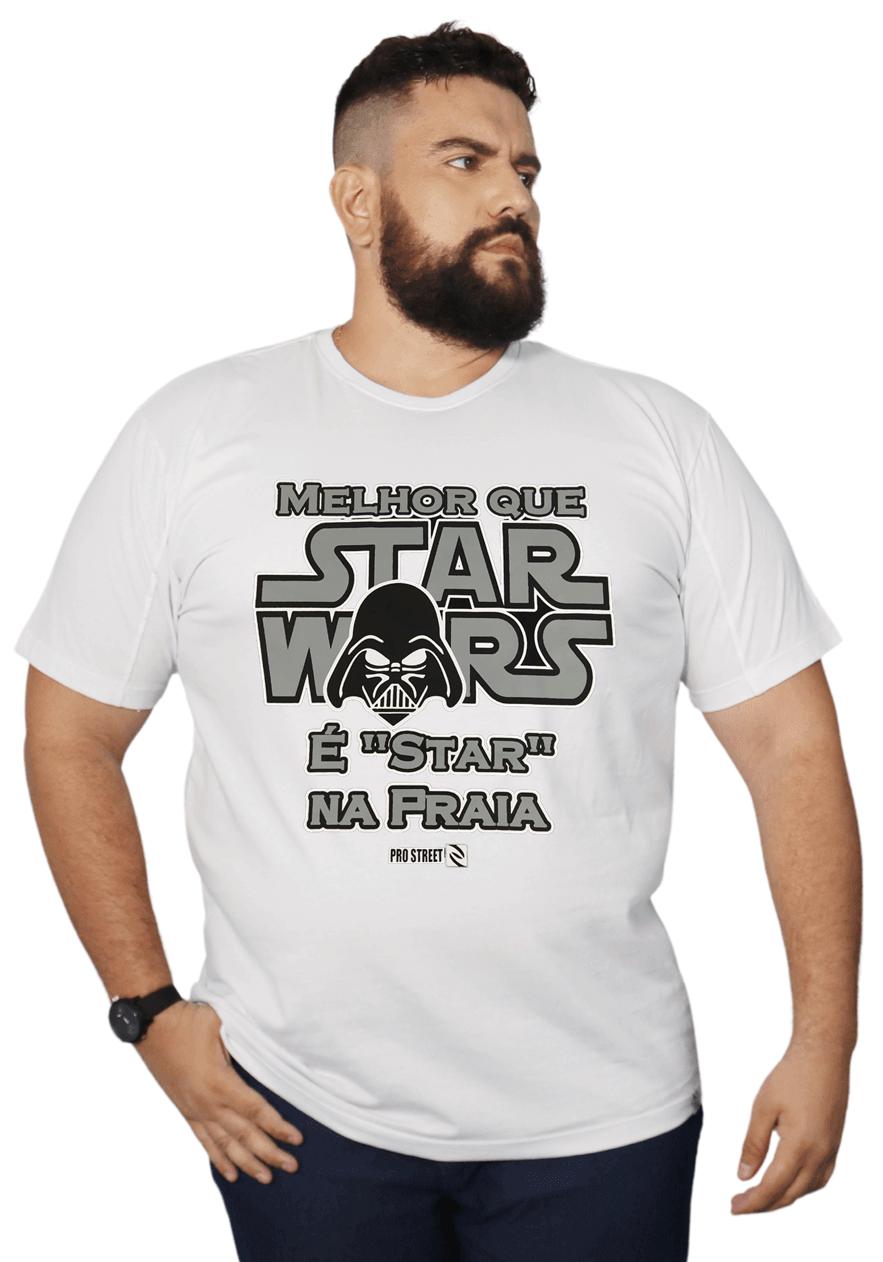 Camiseta Star Wars Plus Size 100% Algodão