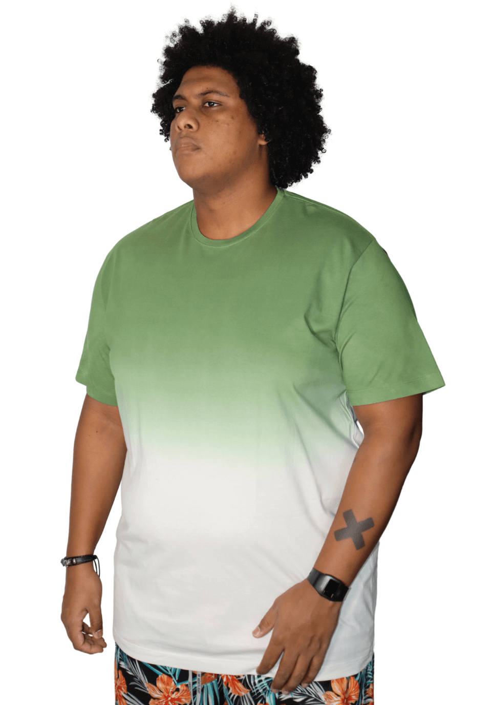 Camiseta Tie Dye Degradê Plus Size
