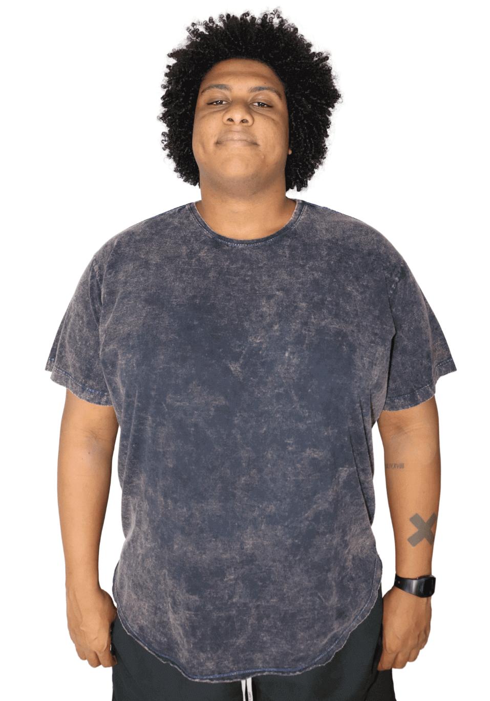 Camiseta Tie Dye Long Line Plus Size
