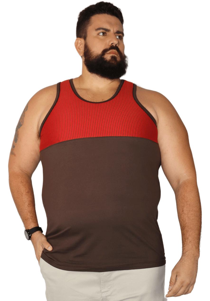 Regata Recorte Peito Estampado Plus Size - Promoção