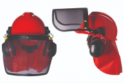 Capacete com Protetor Facial e Auricular