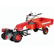 Micro Trator Kawashima MFD 743 + Carreta Agrícola TC 300-B