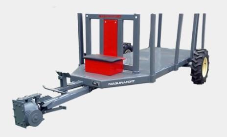 Carreta para Micro Trator Tracionada Madeireira Florestal