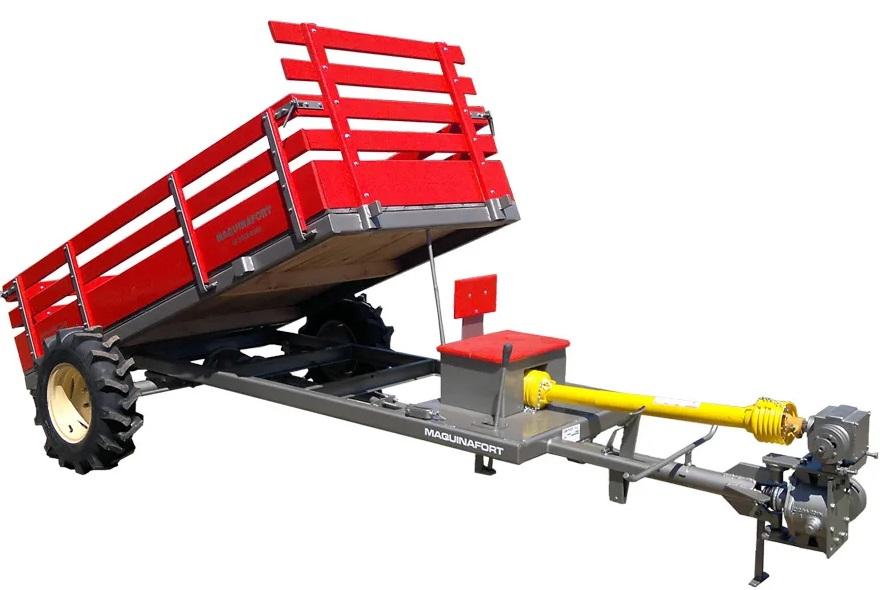 Carreta para Micro Trator Tracionada Multi Basculante Baixa