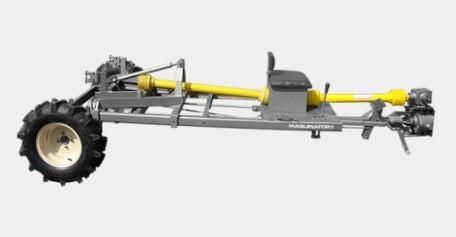 Carreta para Micro Trator Tracionada Multi Compacta