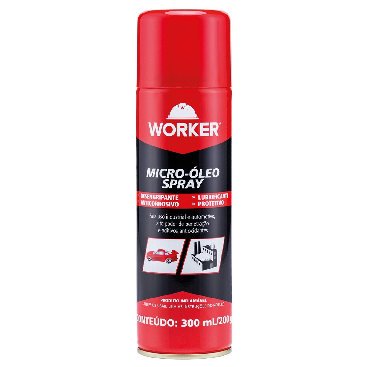 Micro Óleo Spray Lubrificante e Desengripante Worker