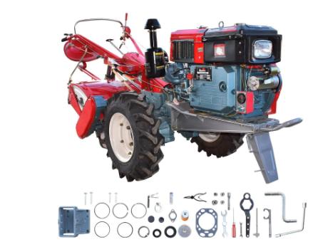 Micro Trator Toyama 16,5 HP Diesel com Enxada Rotativa 80cm e Partida Elétrica