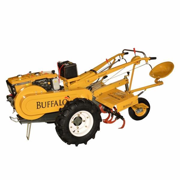 Microtrator Buffalo BFDE 130 a Diesel com Enxada Rotativa