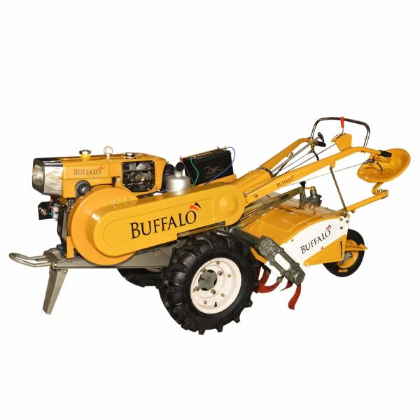 Microtrator Buffalo BFDE 180 a Diesel com Enxada Rotativa