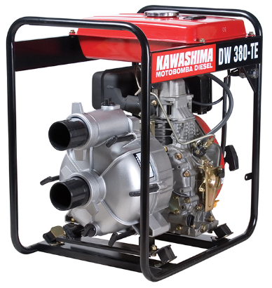 Motobomba Kawashima a Diesel DW 380-TE Água Suja / Partida Elétrica