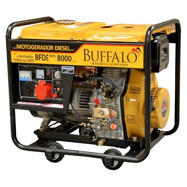 Motogerador Buffalo a Diesel BFDE 8000 Trifásico 220