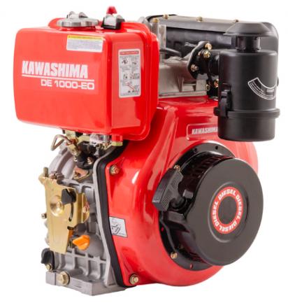 Motor Estacionário Kawashima DE 1000-OE a Diesel / Filtro de Ar Banhado a Óleo