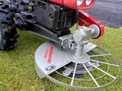 Roçadeira Frontal para Micro Trator com contra Peso