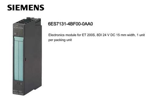 Módulo De Entrada Digital 6es7131-4bf00-0aa0 08di 24v Et200s
