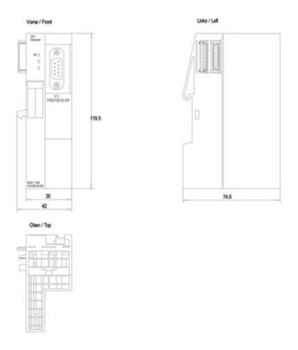 Siemens 6es7138-4ha00-0ab0 Módulo De Interface Mestre Et200s
