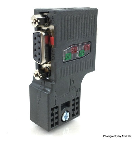 Siemens 6es7972-0bb52-0xa0 Conector Simatic Dp, 90 °com Pg