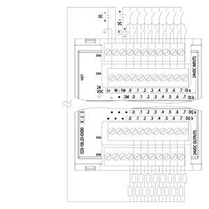 Siemens Módulo 6es7 223 1bl32 0xb0 Expansão S7 1200 Digital