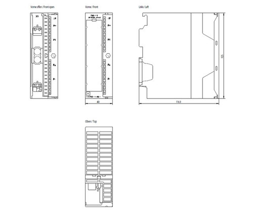 Siemens Simatic S7-300 6es7331-7rd00-0ab0 Sm331