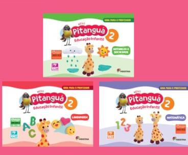 Coleção de 3 Livros - Novo Pitanguá 2 - Linguagem, Matemática, Natureza e Sociedade