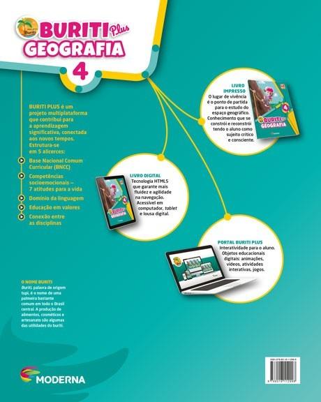 Projeto Buriti - Geografia PLUS - 4º ano - 1ª edição