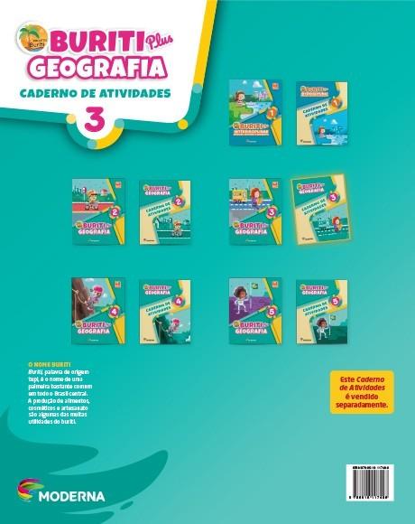 Projeto Buriti - Geografia PLUS - CADERNO DE ATIVIDADES - 3º ano - 1ª edição