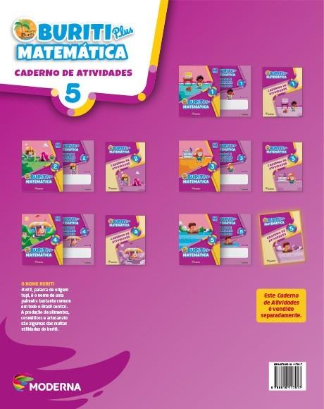 Projeto Buriti - Matemática PLUS - CADERNO DE ATIVIDADES - 5º ano - 1ª edição
