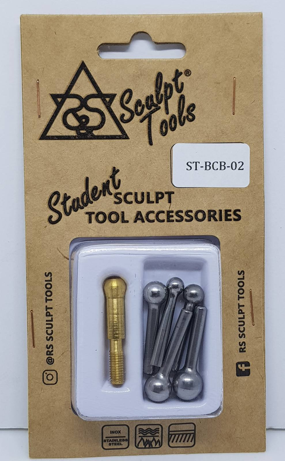 Blister with five 6 mm to 10 mm bolters and tweezers for use on the interchangeable cable