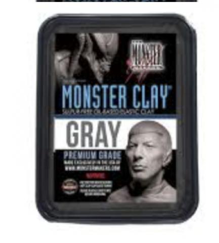 Monster Clay Gray Medium