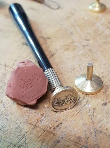 Stamp for Marking on Clay and Wax