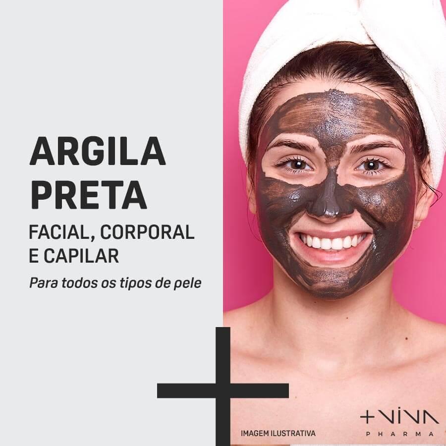 Argila Preta Facial, Corporal e Capilar 10g