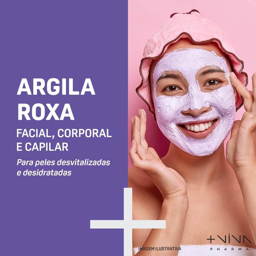 Argila Roxa Facial, Corporal e Capilar 10g