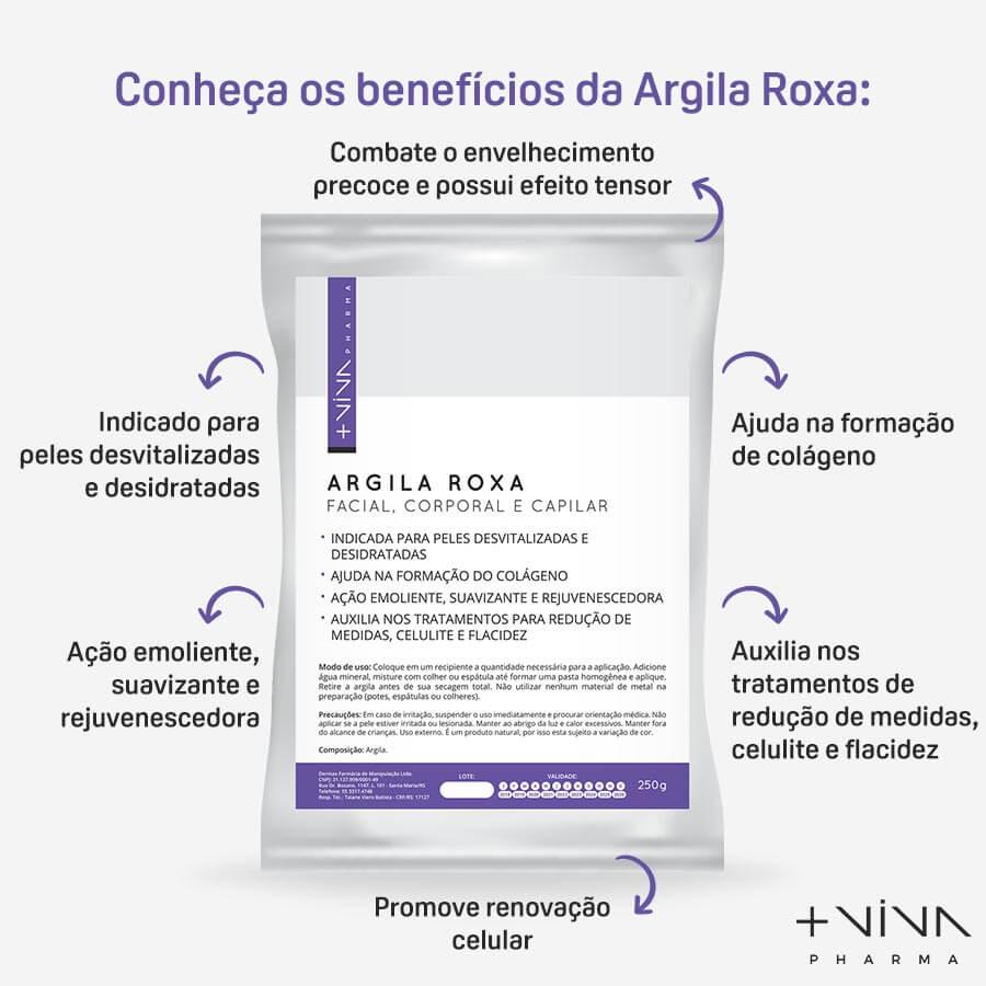 Argila Roxa Facial, Corporal e Capilar 250g