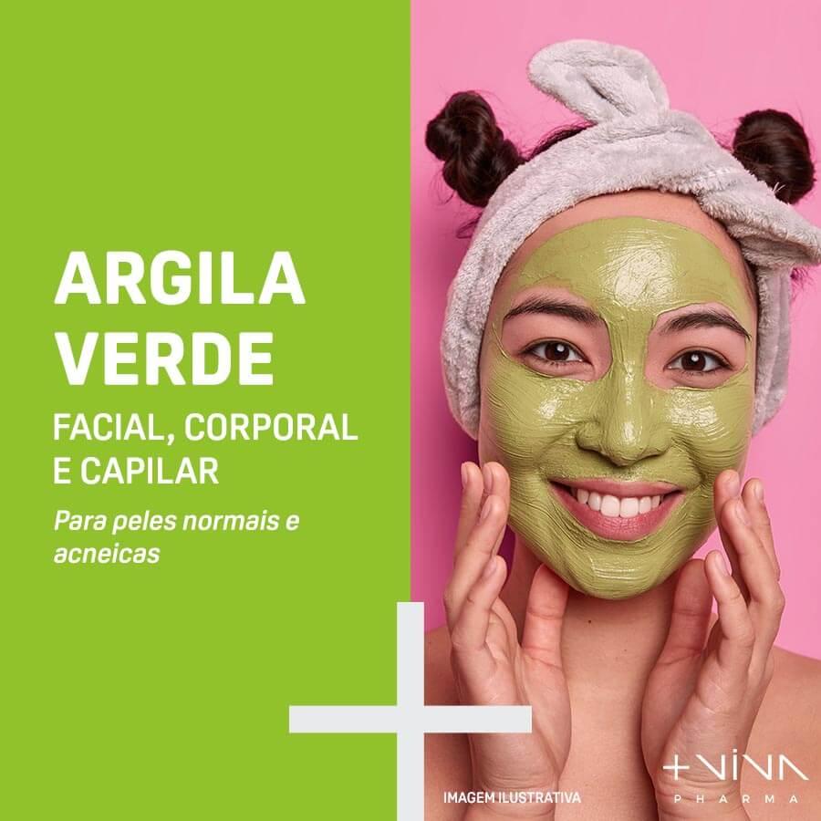 Argila Verde Facial, Corporal e Capilar 250g