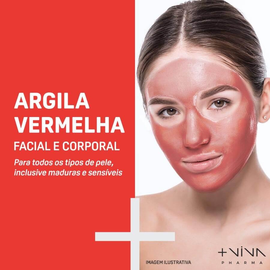 Argila Vermelha Facial e Corporal 10g
