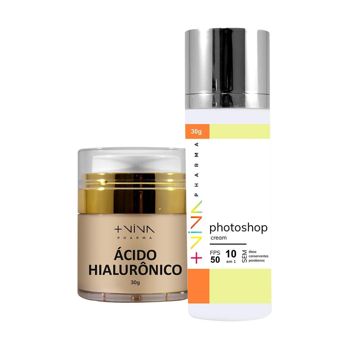 COMBO | Ácido Hialurônico + Photoshop Cream 10 em 1 FPS 50