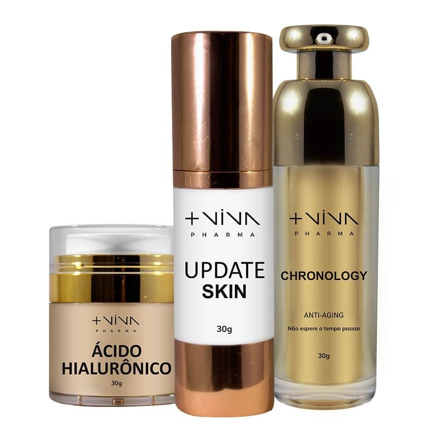 COMBO | Ácido Hialurônico + Update Skin +  Chronology - Anti-aging