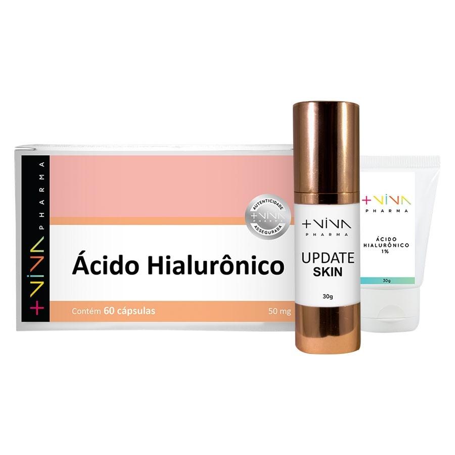 COMBO| Gel Creme com Ácido Hialurônico + Ácido Hialurônico + Update Skin