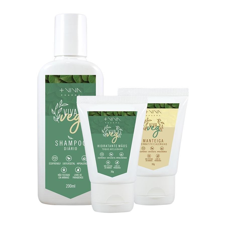COMBO | Hidratante Mãos + Shampoo Diário + Manteiga Corporal