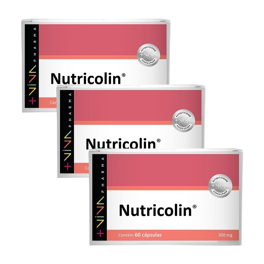COMBO| Nutricolin 300mg 60 Cápsulas (3 Unidades)
