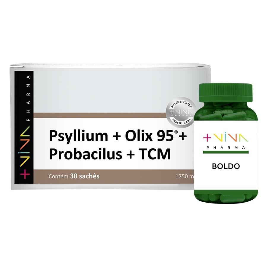 COMBO | Psyllium + Olix 95® + Probacilus + TCM 1750mg + Boldo
