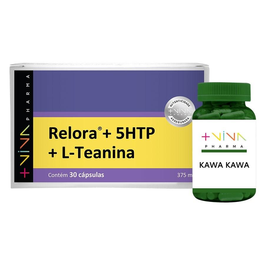 COMBO | Relora® + 5 HTP + L-Teanina 375mg + Kawa-Kawa