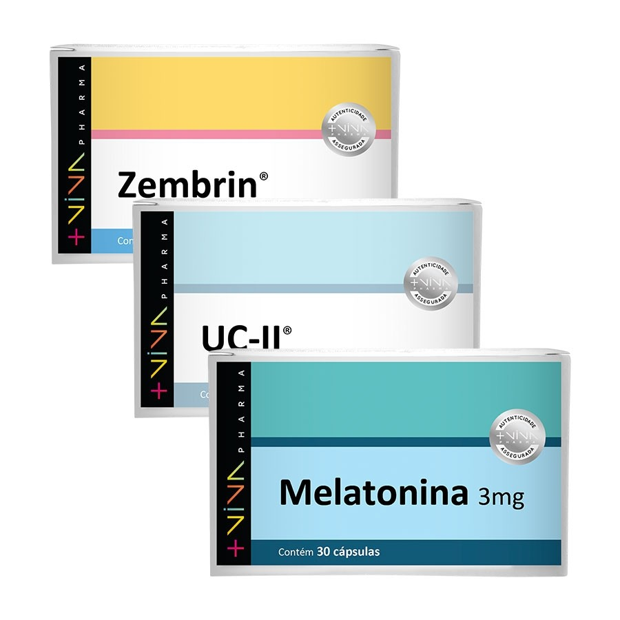 COMBO | Zembrin® + UC II® 40mg + Melatonina 3mg