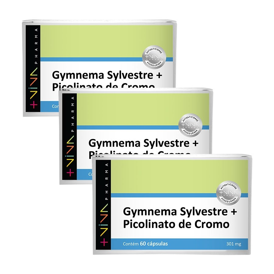 Gymnema Sylvestre + Picolinato de Cromo  301mg 60 Cápsulas (3 unidades)