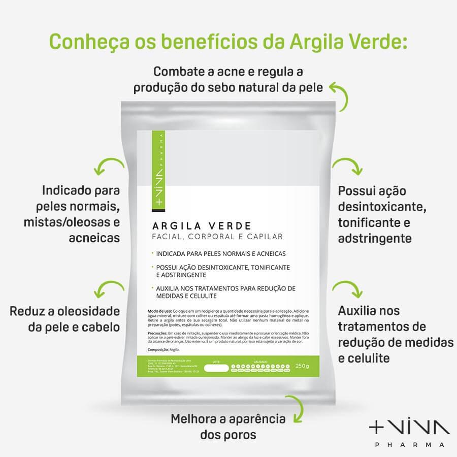 Kit Cuidados com o Rosto Tônico + Demaquilante + Hidratante Facial + Argila Verde