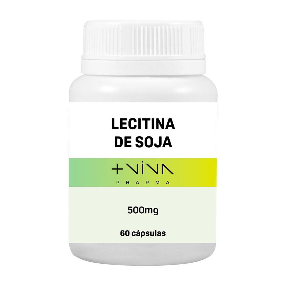 Lecitina de Soja 500mg 60 cápsulas