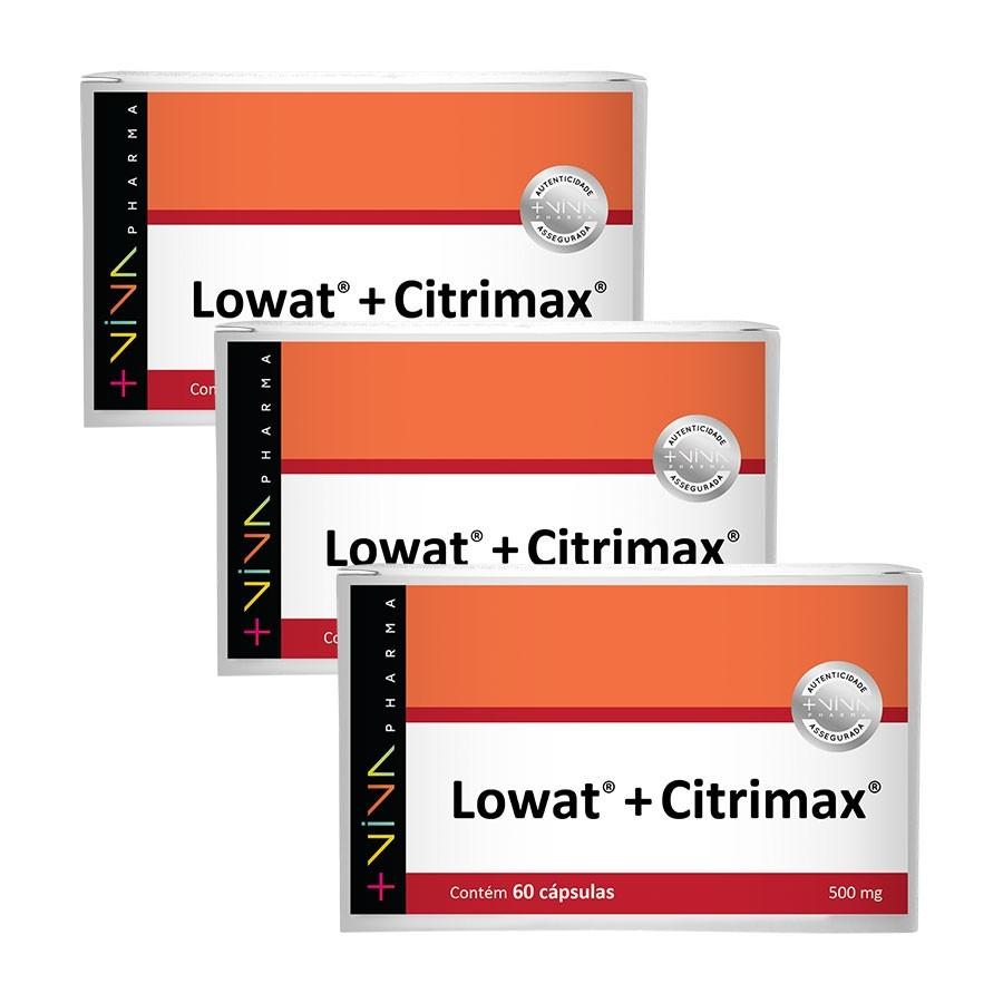 Lowat® + Citrimax® 500mg 60 Cápsulas (3 Unidades)