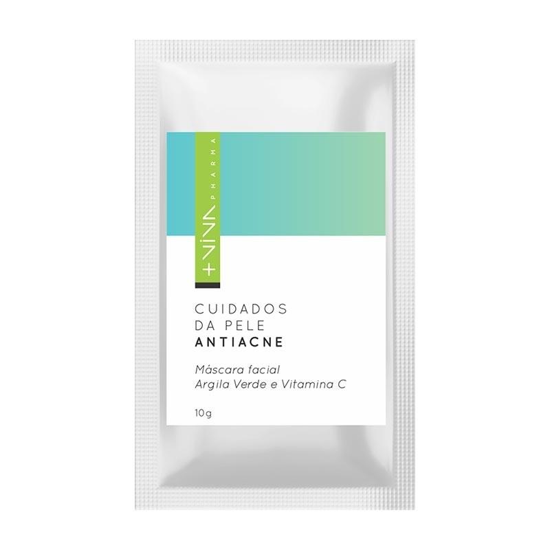 Máscara Facial Argila Verde e Vitamina C