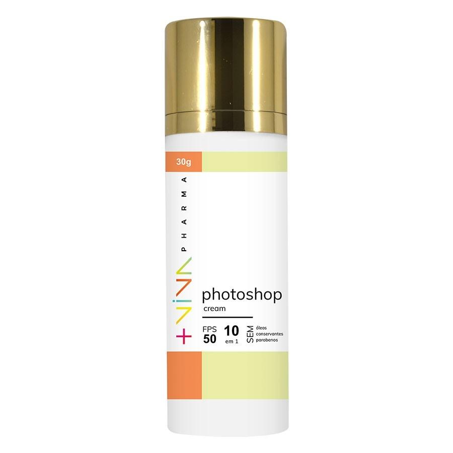Photoshop Cream 10 em 1 FPS 50 Cobertura Leve 30g