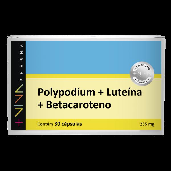 Polypodium + Luteína + Betacaroteno 255mg 30 Cápsulas