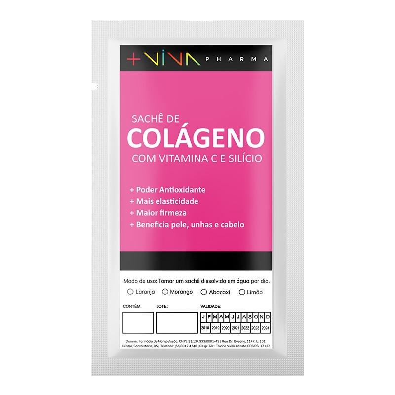Sachê de Colágeno com Vitamina C e Silício 10g